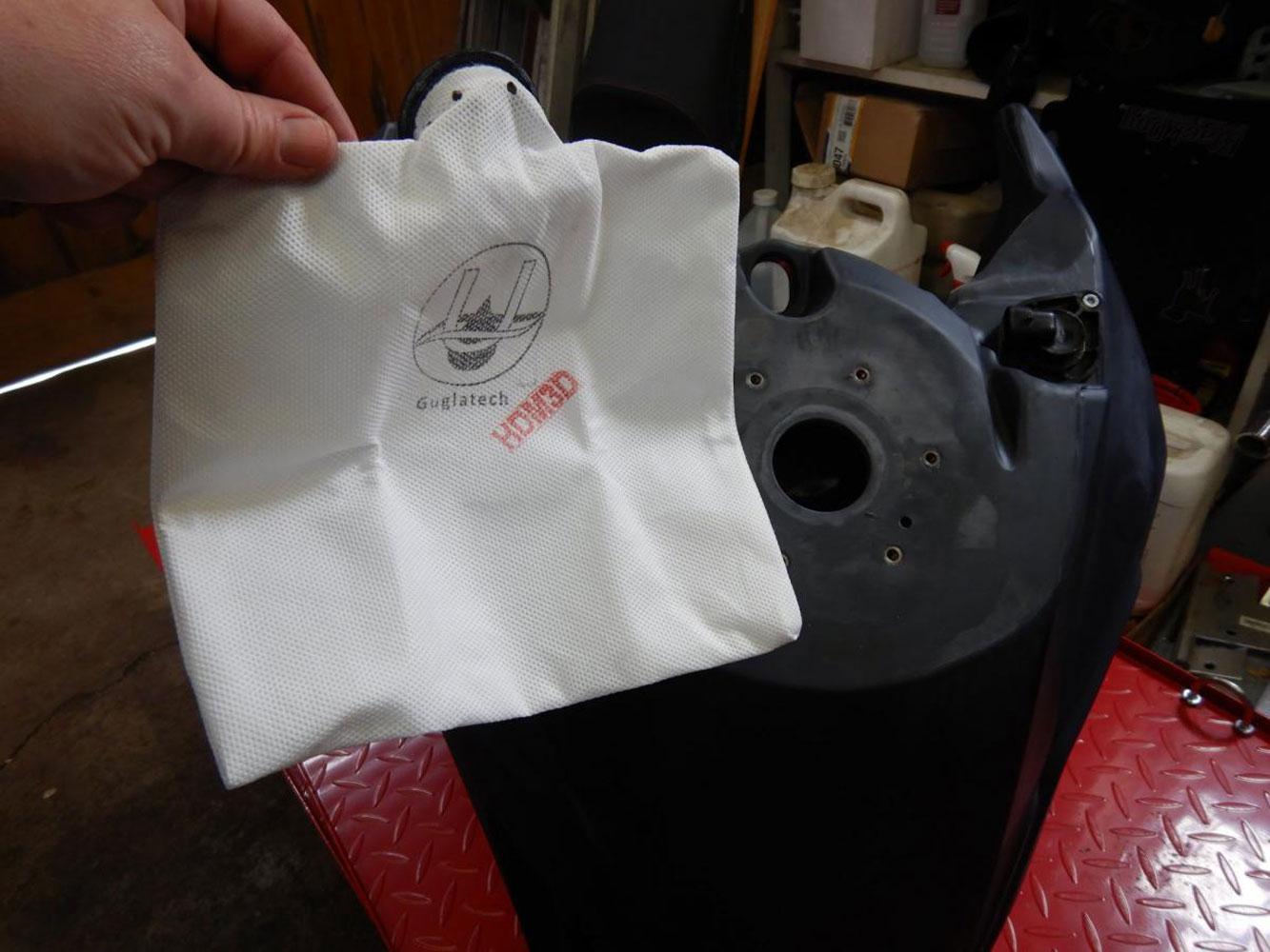 montaggio filtro benzina moto